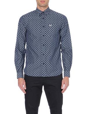 FRED PERRY Drakes paisley-print cotton shirt
