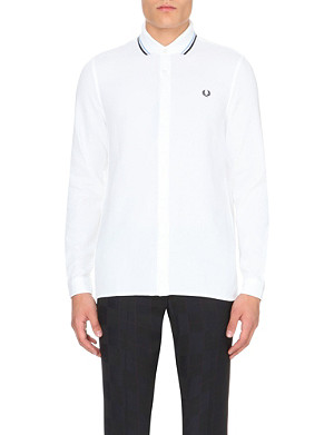 FRED PERRY Regular-fit cotton-piqué polo shirt