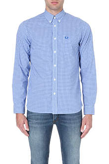 FRED PERRY Gingham slim-fit shirt