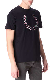 FRED PERRY Appliqué Laurel t-shirt