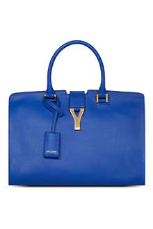 SAINT LAURENT Classic Cabas Y leather tote