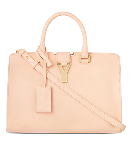 SAINT LAURENT Small Chyc cabas cross-body bag (Blush