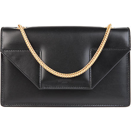 SAINT LAURENT Betty mini leather clutch (Black