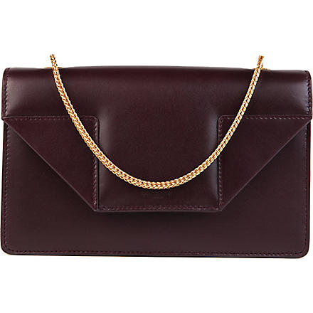 SAINT LAURENT Betty mini leather clutch (Amarena