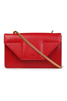 SAINT LAURENT Betty mini chain calf-skin clutch bag