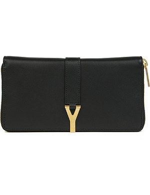 SAINT LAURENT Chyc leather wallet
