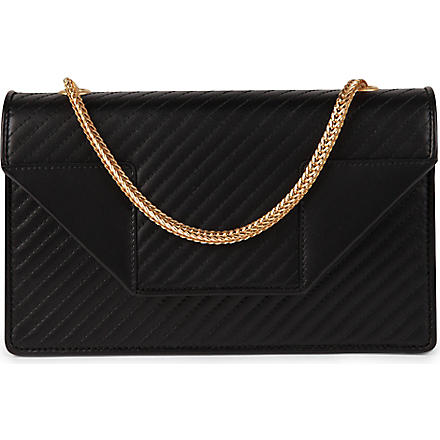 SAINT LAURENT Betty mini quilted leather clutch (Black