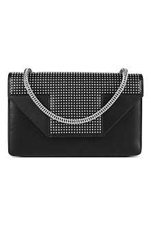 SAINT LAURENT Betty mini studded leather clutch