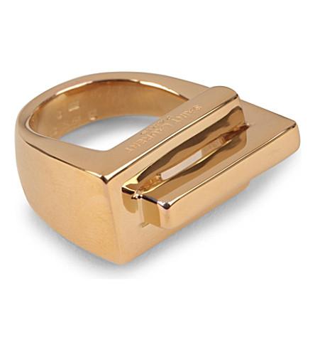 SAINT LAURENT Babylone ring (Gold