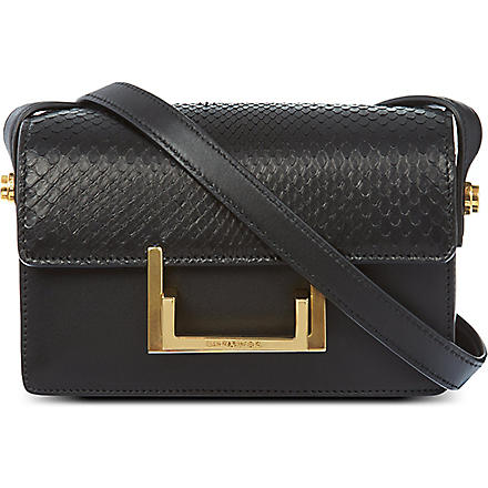 SAINT LAURENT Lulu python satchel (Black