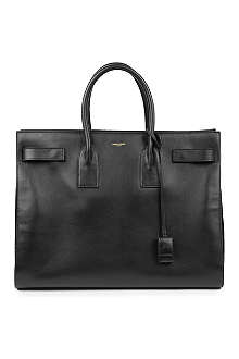 SAINT LAURENT Sac de Jour large leather tote