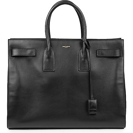 SAINT LAURENT Sac de Jour large leather tote (Black
