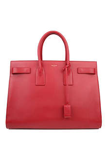 SAINT LAURENT Sac du Jour large leather tote