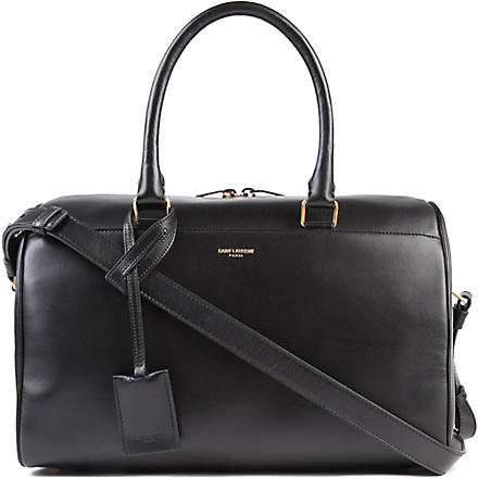 SAINT LAURENT Small leather duffel bag (Black