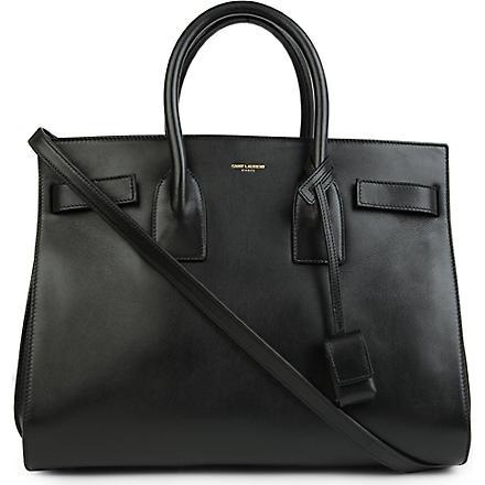 SAINT LAURENT Sac de Jour small leather tote (Black