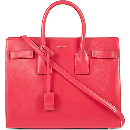 SAINT LAURENT Sac de Jour leather tote (Pink