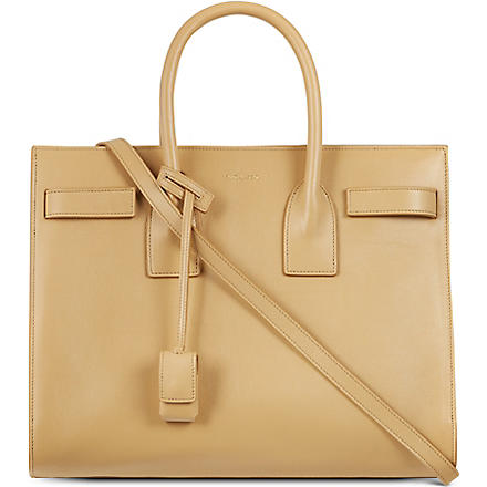 SAINT LAURENT Sac de Jour leather tote (Naturel