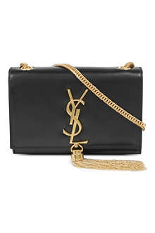 SAINT LAURENT Classic small Cassandre tassel shoulder bag