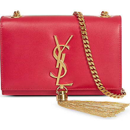 SAINT LAURENT Classic small Monogramme tassel shoulder bag (Pink