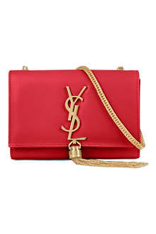 SAINT LAURENT Cassandre small leather shoulder bag