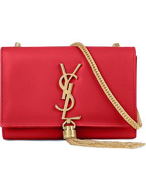 SAINT LAURENT Cassandre small leather shoulder bag
