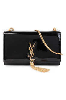 SAINT LAURENT Cassandre large patent-leather shoulder bag