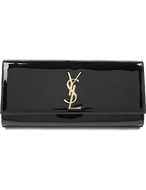 SAINT LAURENT Cassandre patent leather clutch