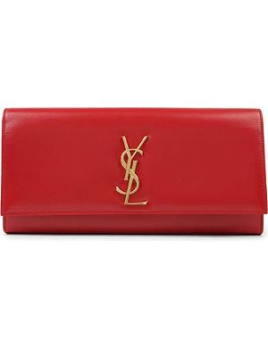 SAINT LAURENT Cassandre leather clutch