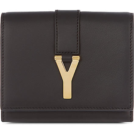 SAINT LAURENT Chyc flap wallet (Black