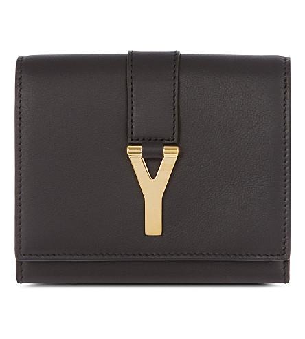 SAINT LAURENT Chyc flap wallet (Black