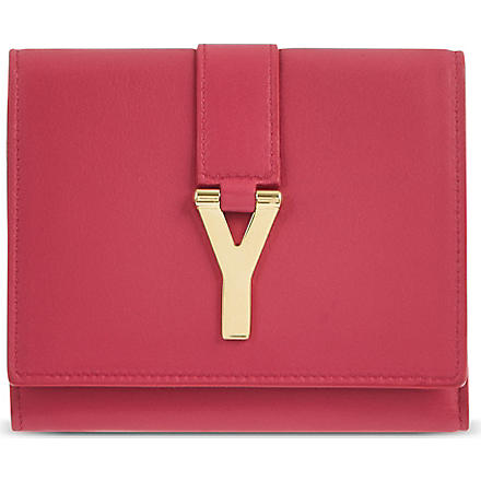 SAINT LAURENT Chyc flap wallet (Pink