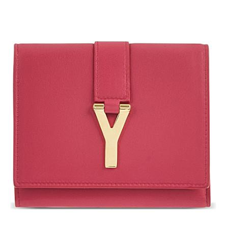SAINT LAURENT Chyc flap wallet (Pink