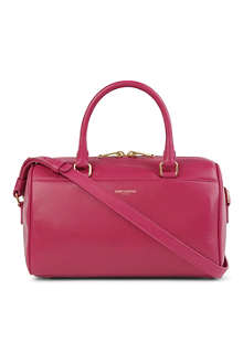 SAINT LAURENT Mini leather duffle bag