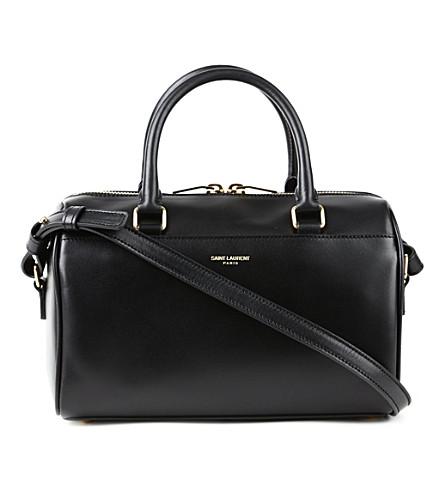 SAINT LAURENT Baby leather duffel bag (Black