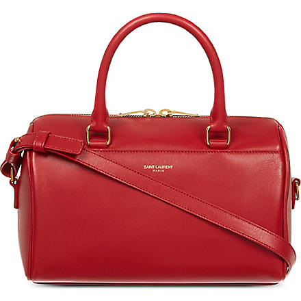 SAINT LAURENT Small leather duffle bag (Rouge