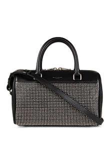 SAINT LAURENT Studded leather mini duffle bag