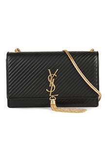 SAINT LAURENT Cassandre quilted leather tassel bag