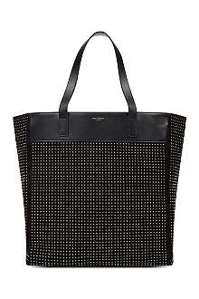 SAINT LAURENT Studded tote bag
