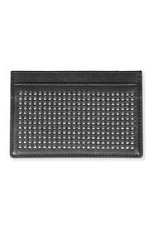 SAINT LAURENT Clous paves credit card case