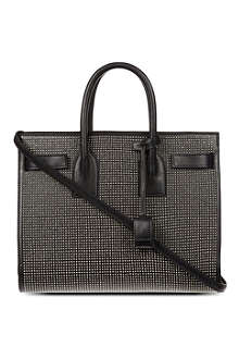 SAINT LAURENT Studded leather tote