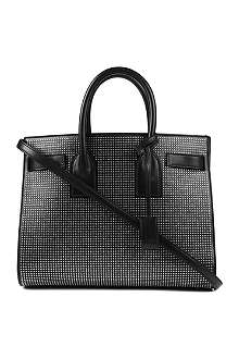 SAINT LAURENT Sac du Jour small studded leather tote