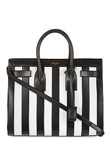 SAINT LAURENT Sac de Jour striped tote