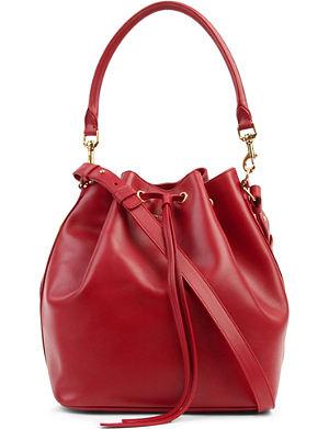SAINT LAURENT Medium leather bucket bag