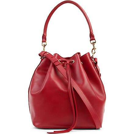 SAINT LAURENT Medium leather bucket bag (Rouge