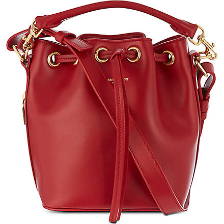 SAINT LAURENT Small bucket bag (Rouge