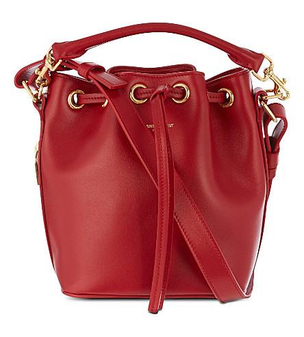 SAINT LAURENT Small bucket bag (Rouge