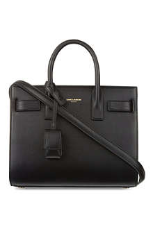 SAINT LAURENT Mini Sac du Jour calfskin tote