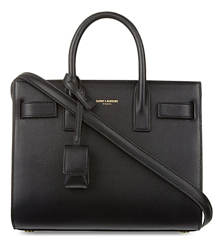 SAINT LAURENT Sac de Jour mini leather tote (Black