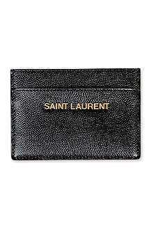 SAINT LAURENT Logo credit card case