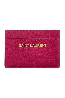 SAINT LAURENT Logo card case